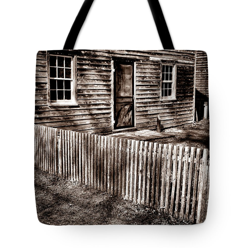 Picket Tote Bag featuring the photograph Antique Batsto by Olivier Le Queinec