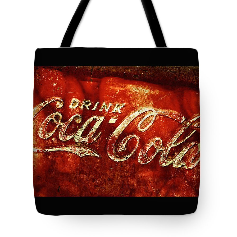 Ice Box Tote Bag featuring the photograph Antique Coca-cola Cooler II by Stephen Anderson