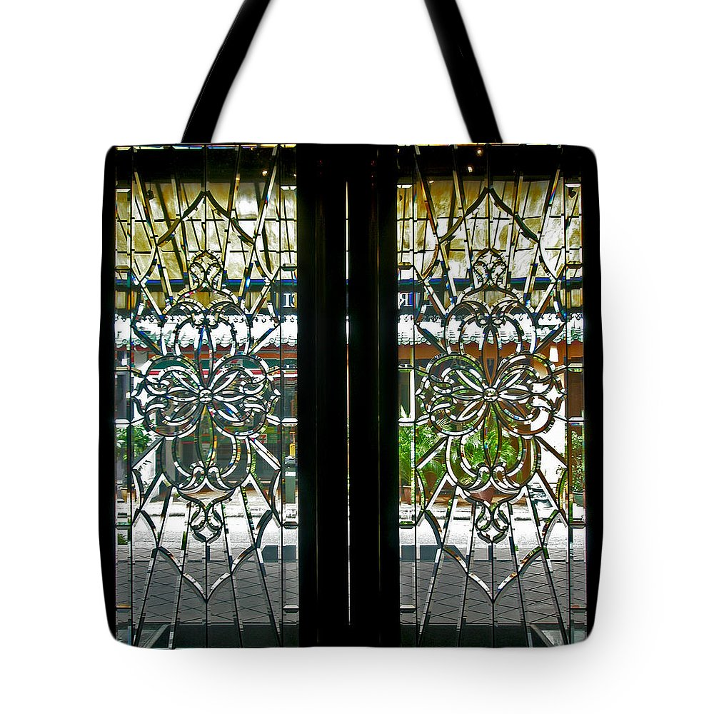 Antique Lead Glass Doors Tote Bag For Sale By Mark Sellers