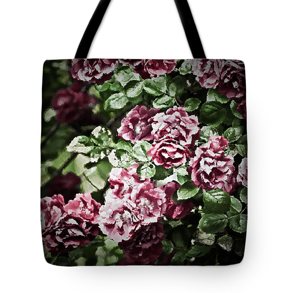 Antique Rose Tote Bag featuring the photograph Antique Pink Roses by Onyonet Photo Studios