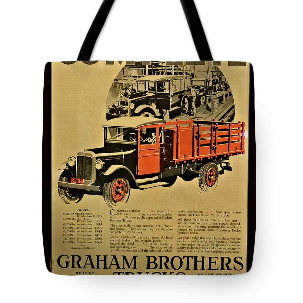 Auto Tote Bag featuring the photograph Antique Truck Poster by Richard Jenkins