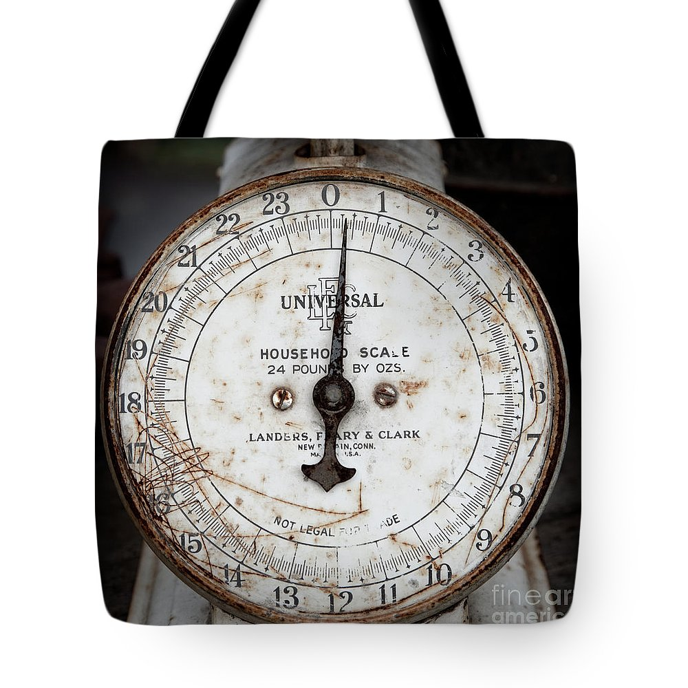 Scale Tote Bag featuring the photograph Antique Universal Household Scale by John Stephens