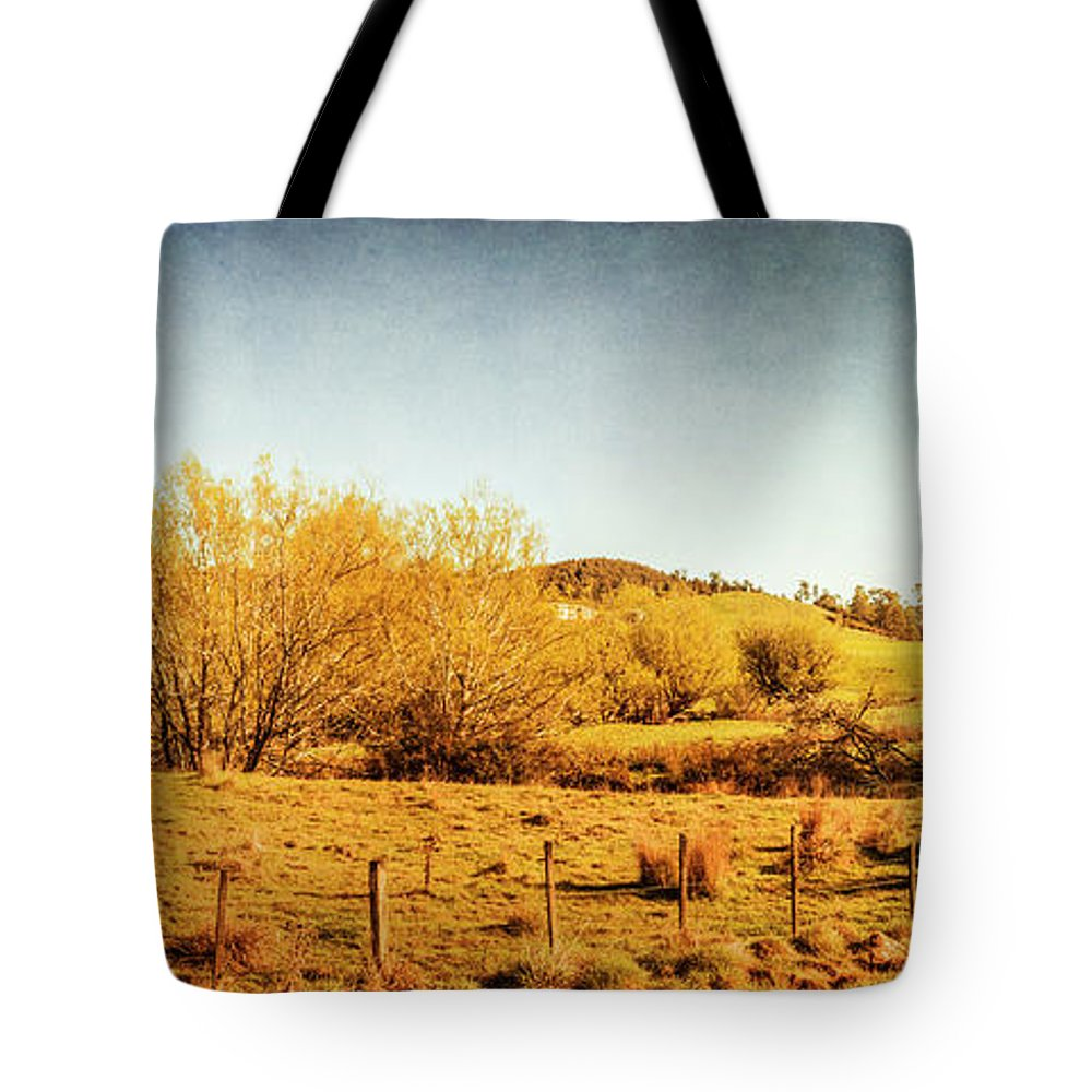 Panoramic Tote Bag featuring the photograph Antique Weathered Countryside by Jorgo Photography - Wall Art Gallery