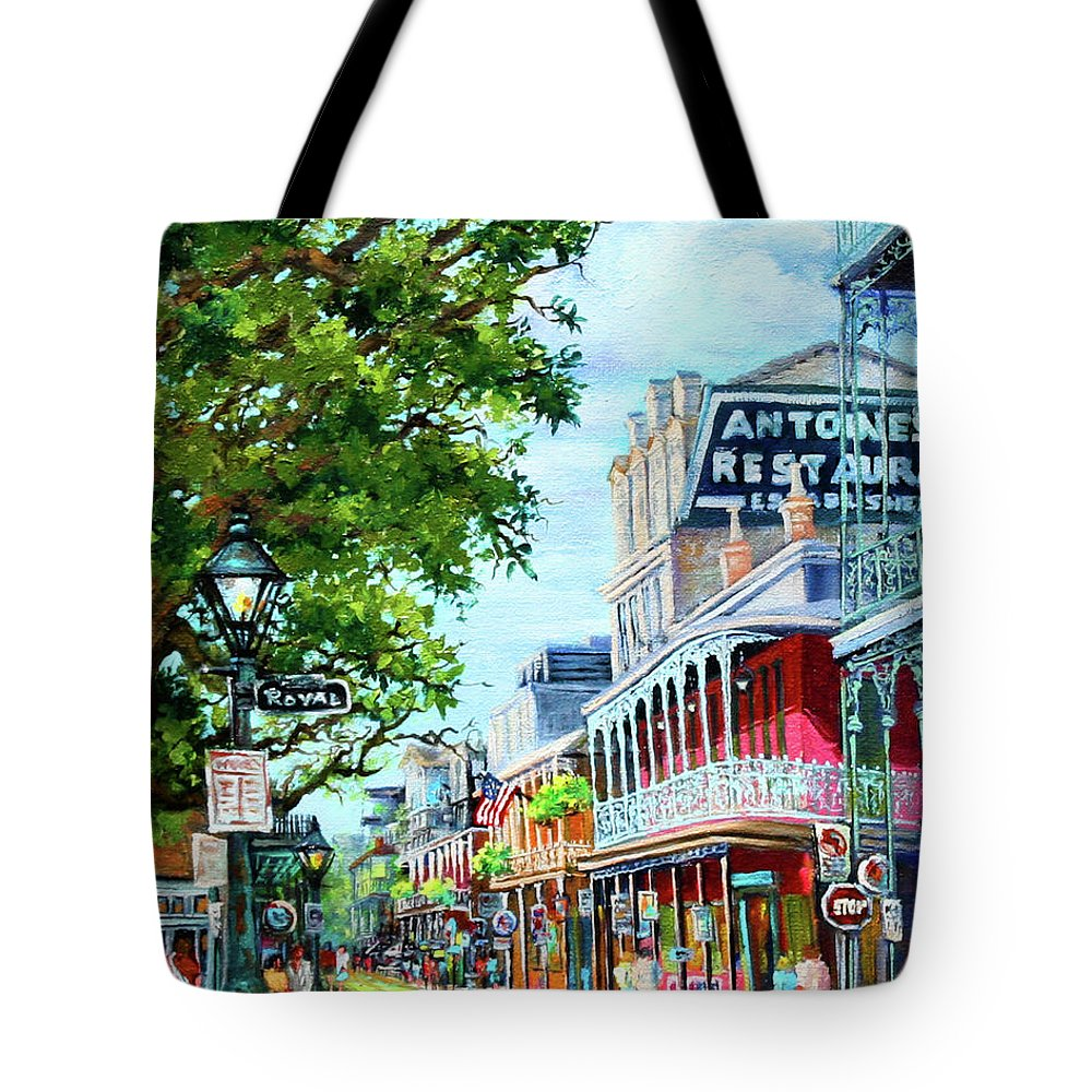 New Orleans Art Tote Bag featuring the painting Antoine's by Dianne Parks
