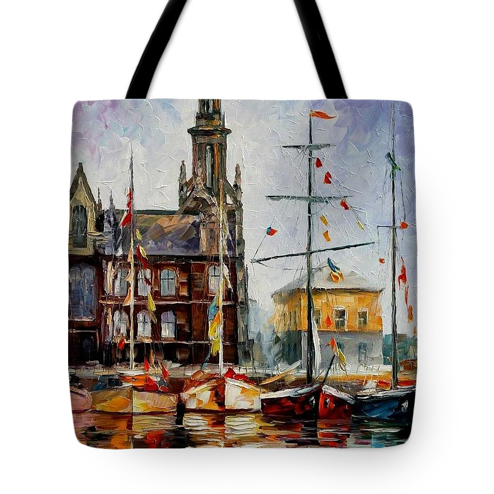 Afremov Tote Bag featuring the painting Antwerp - Belgium by Leonid Afremov