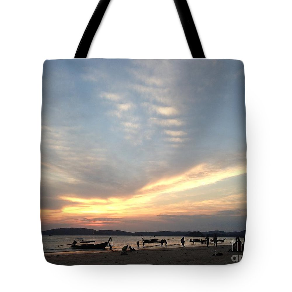 Sunset Tote Bag featuring the photograph Aonang Sunset by Sharmila Bakshi