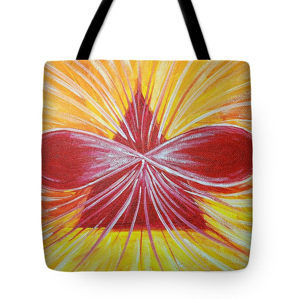 Aphrodite Tote Bag featuring the painting Aphrodite Essence by Tara Moorman