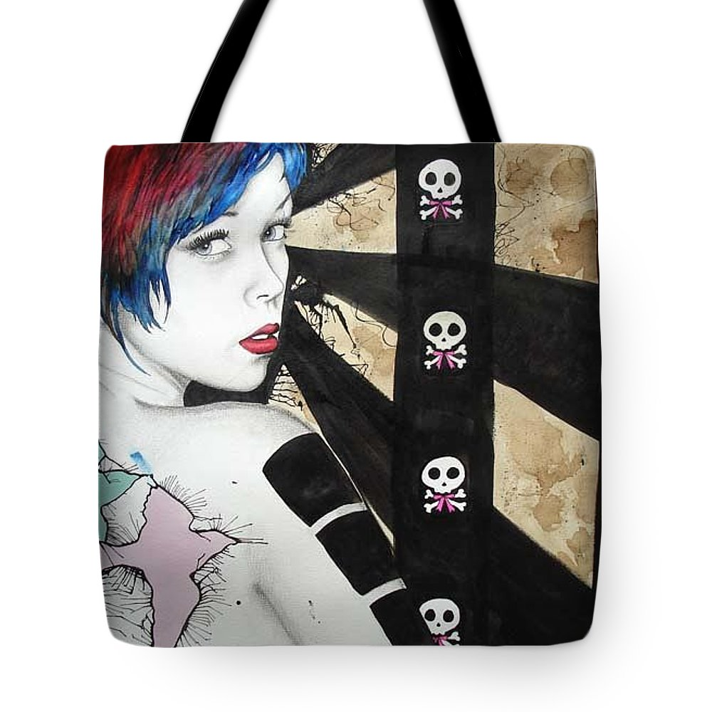 Birds Tote Bag featuring the painting Apnea by Freja Friborg