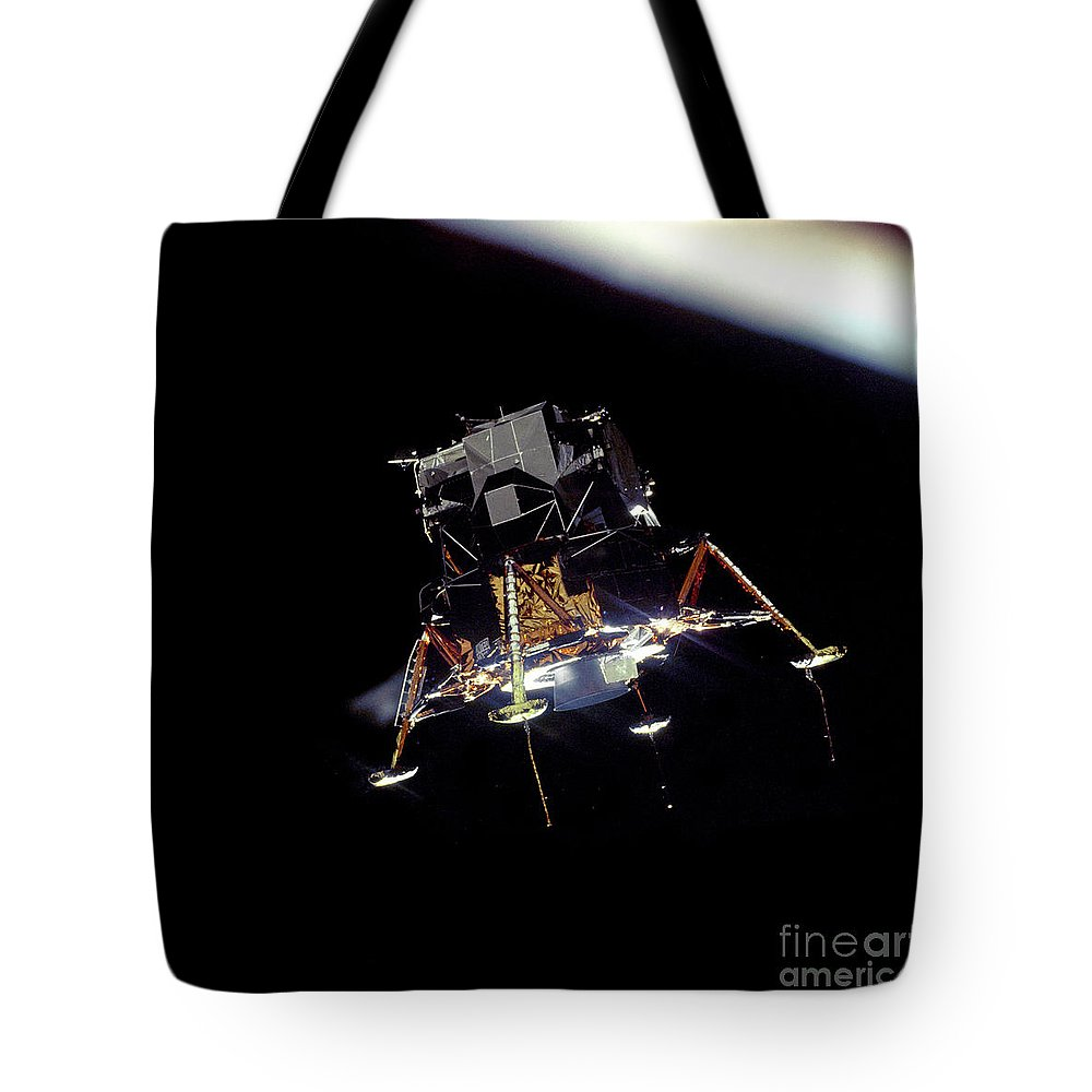 Nasa Tote Bag featuring the photograph Apollo 11 Lunar Module Eagle by Nasa