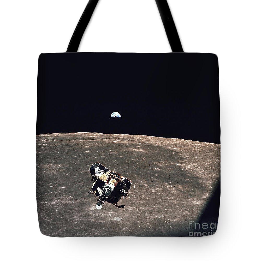 Apollo 11 Tote Bag featuring the photograph Apollo 11 Module Ascends To Columbia by Nasa