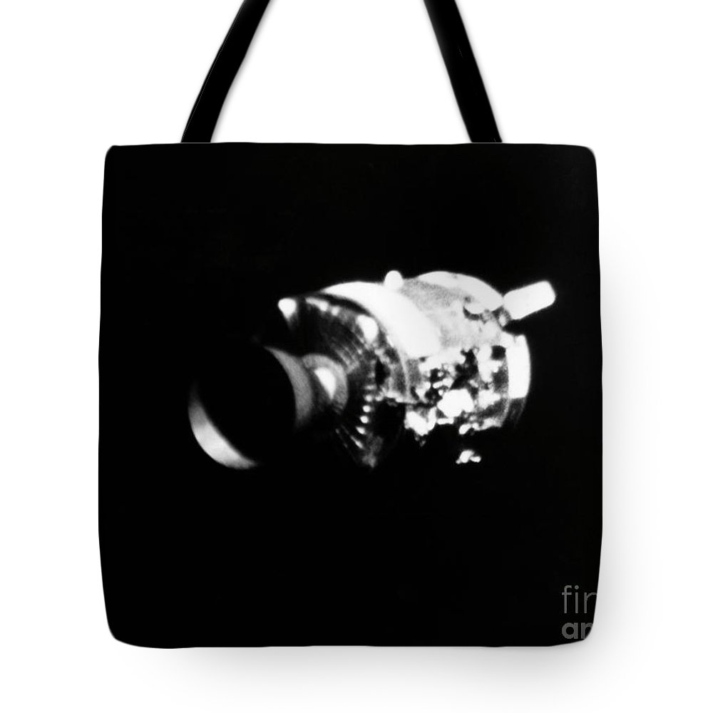 1970 Tote Bag featuring the photograph Apollo 13, Service Module. by Granger