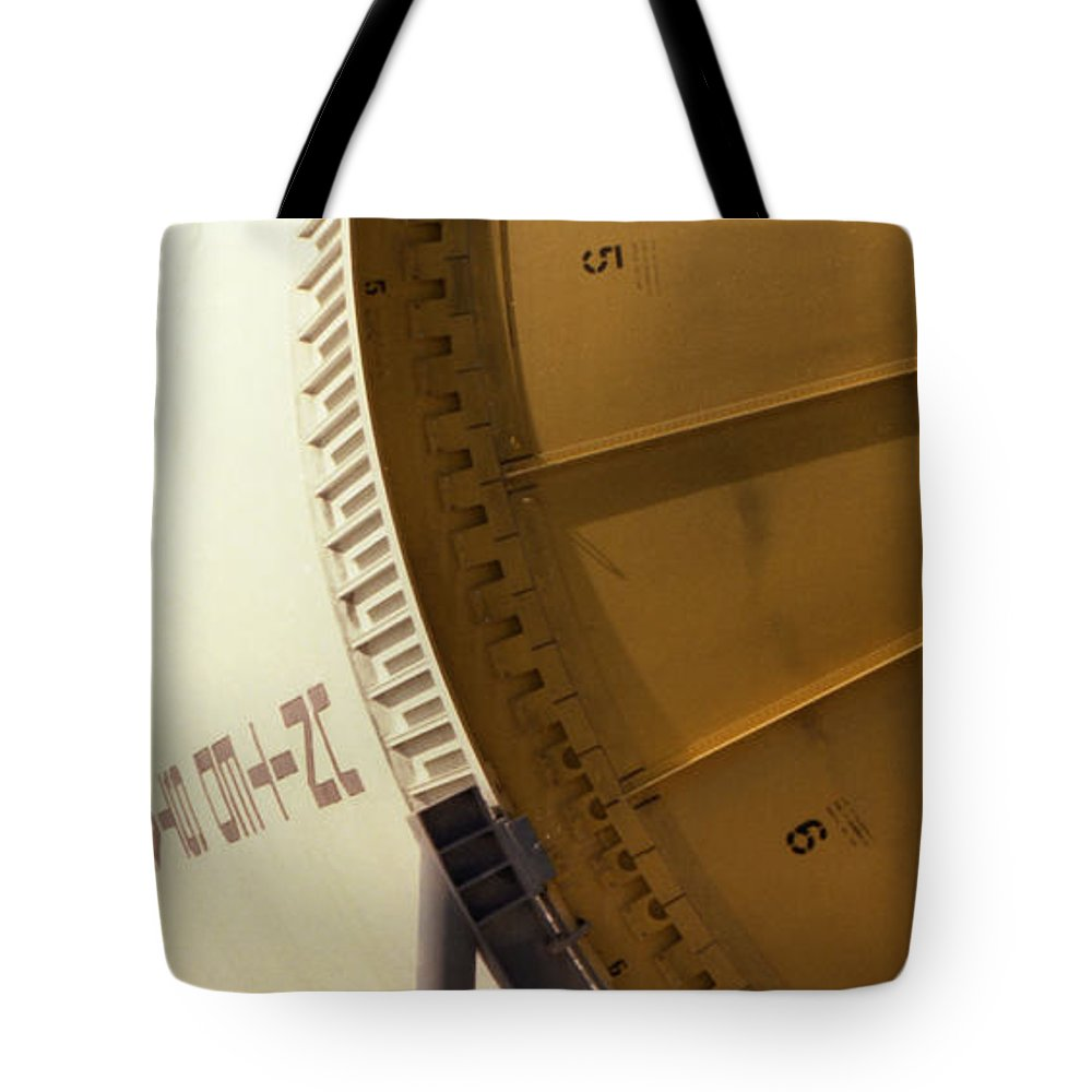 Technology Tote Bag featuring the photograph Apollo Rocket by Richard Rizzo