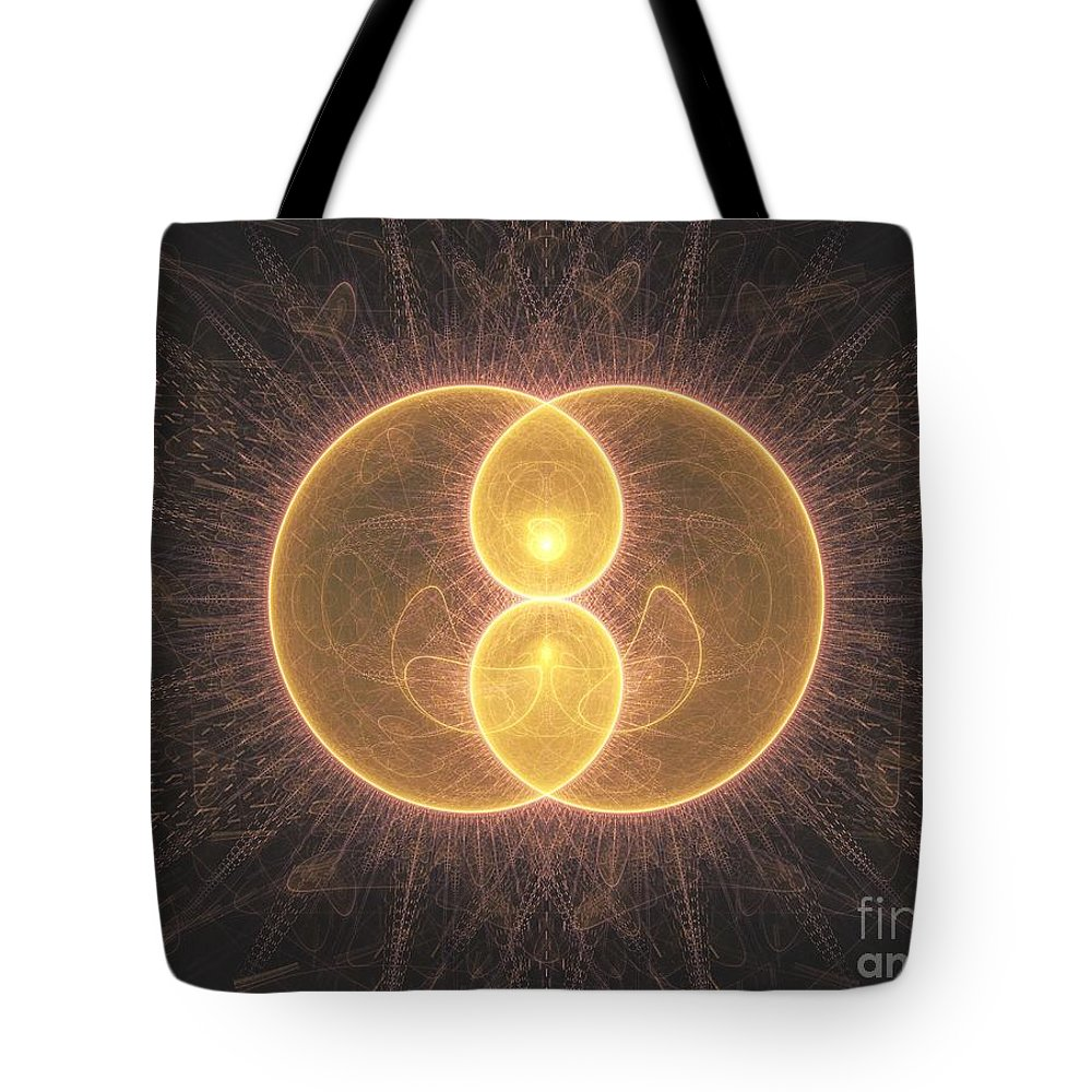 Fractal Tote Bag featuring the digital art Apophysis 2 by Erik Winbo