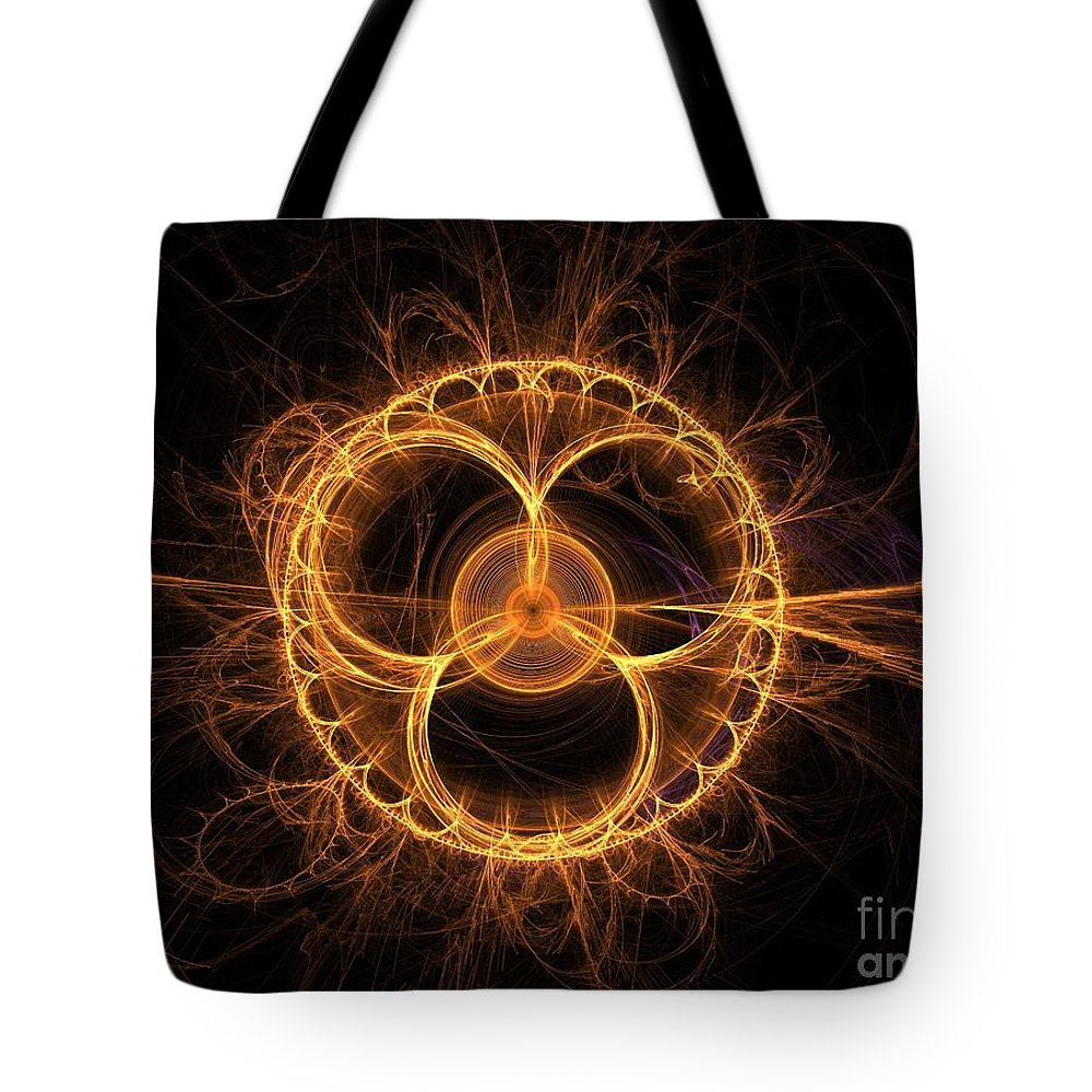 Fractal Tote Bag featuring the digital art Apophysis 4 by Erik Winbo