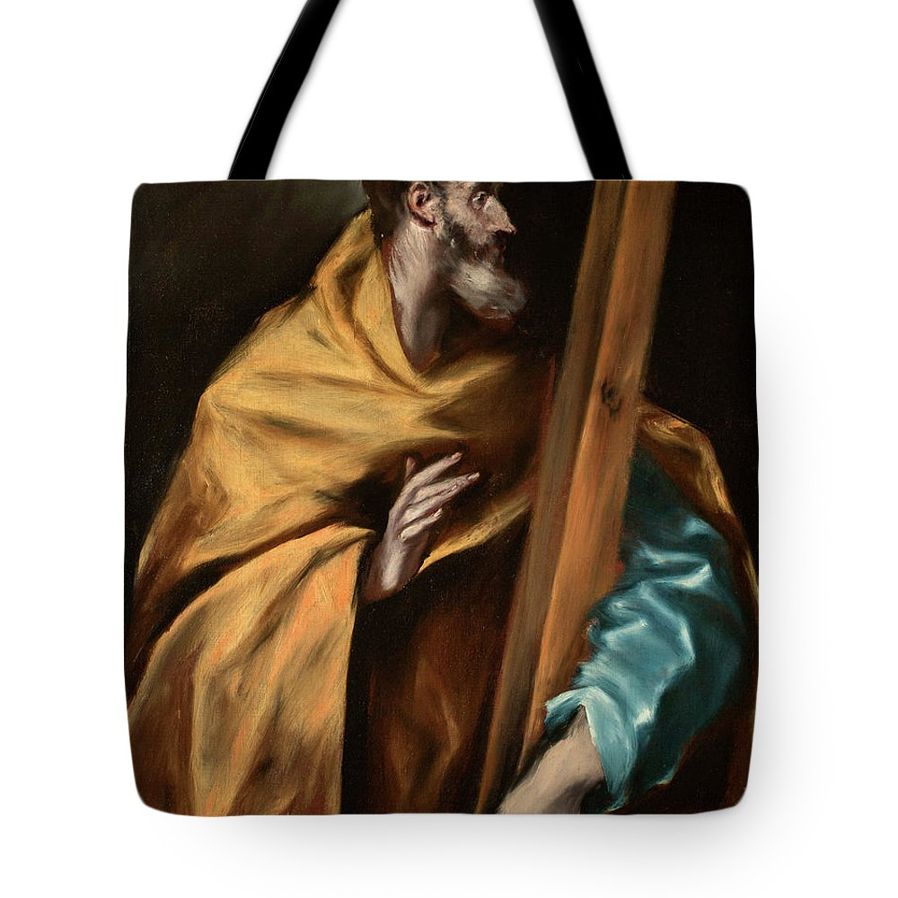 Apostle Tote Bag featuring the painting Apostle Saint Philip by El Greco