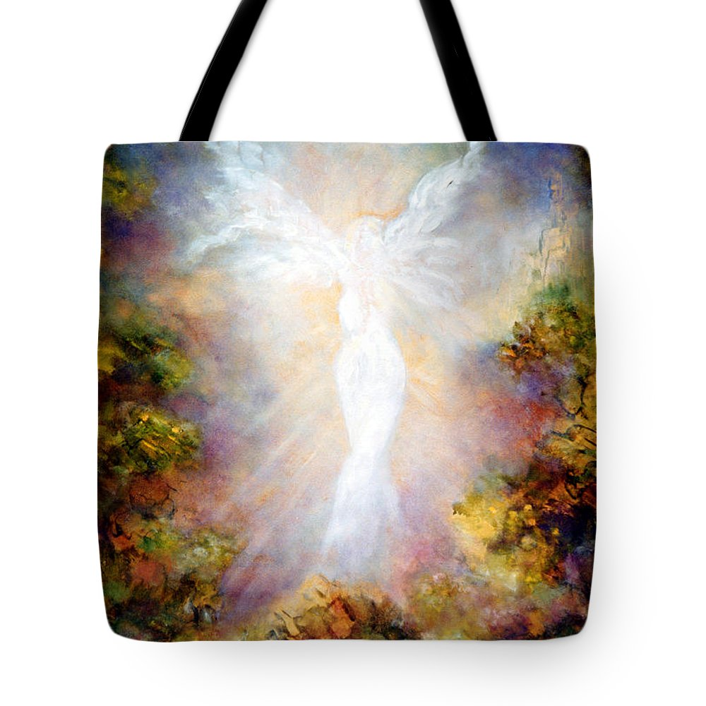 Angel Tote Bag featuring the painting Apparition II by Marina Petro
