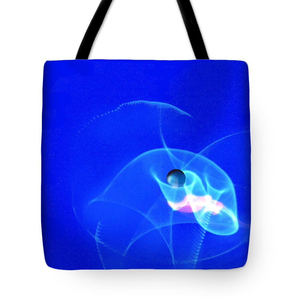 Abstract Tote Bag featuring the photograph Apparition pearl by Steve Karol