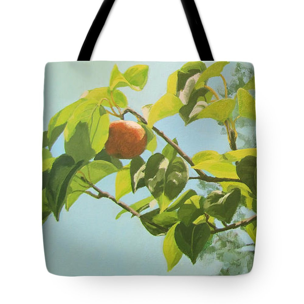 Trees Tote Bag featuring the painting Apple A Day by Karen Ilari