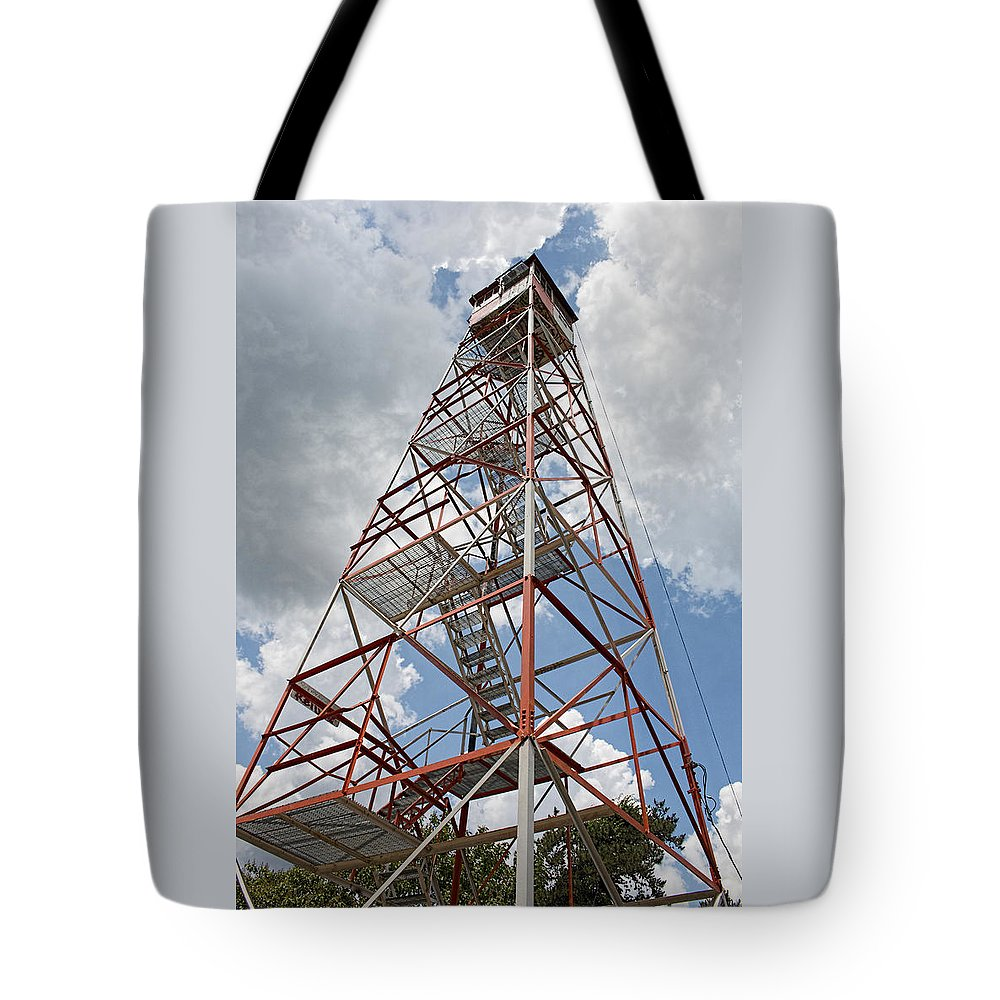 Fire Towers For Sale Apple Pie Hill Fire Tower Tote Bag For Sale By Kristia Adams