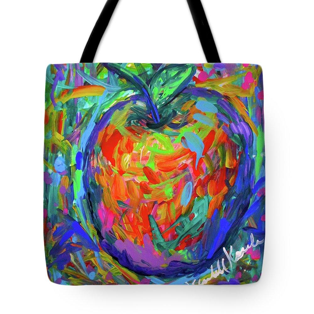 Apple Tote Bag featuring the painting Apple Splash by Kendall Kessler