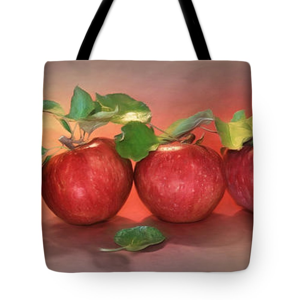 Apple Tote Bag featuring the photograph Apples by Lori Deiter