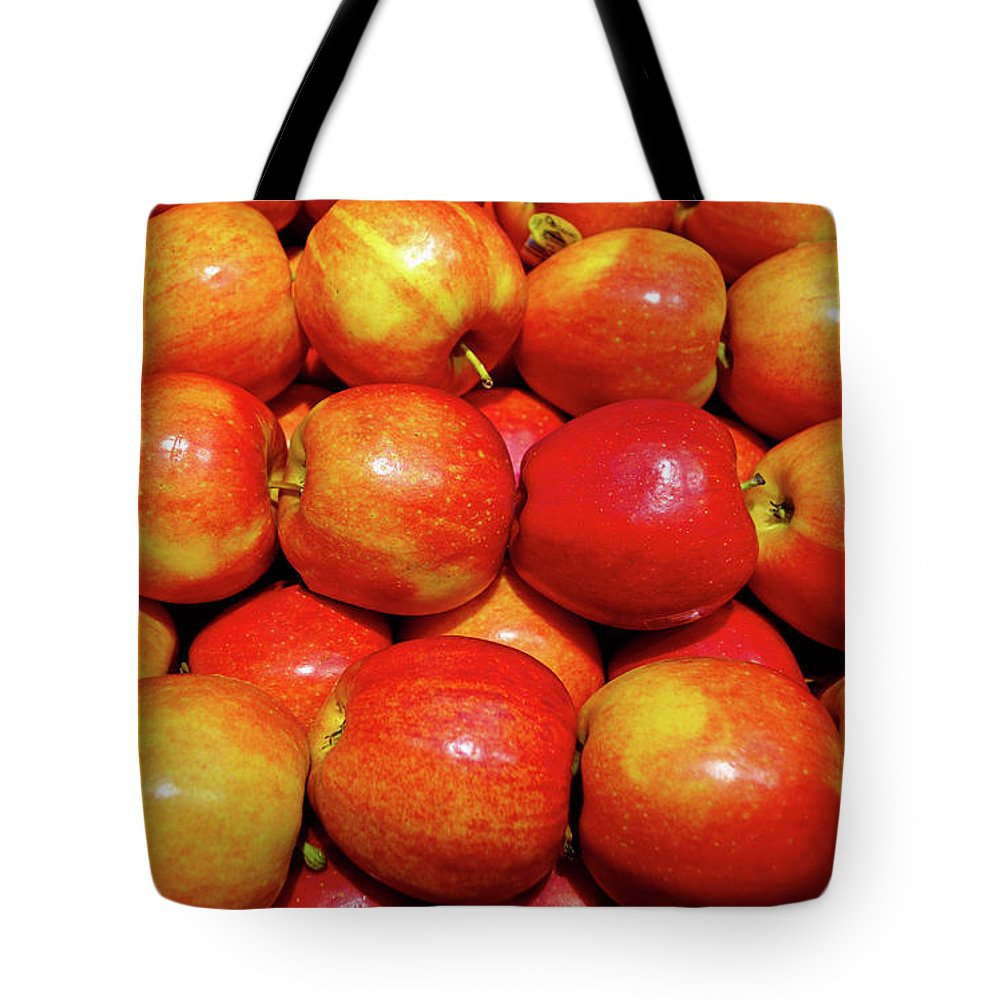 Apples Tote Bag featuring the photograph Apples by Robert Meyers-Lussier