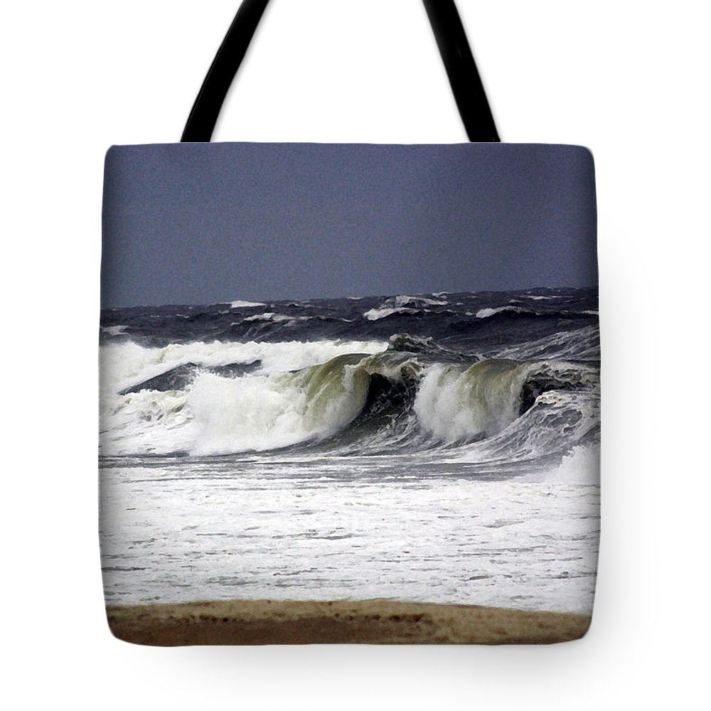 Ocean Tote Bag featuring the photograph Approaching Storm by Mary Haber
