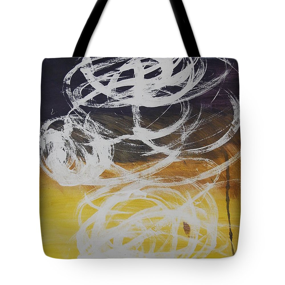 Learning Tote Bag featuring the painting Aprendiendo by Lauren Luna