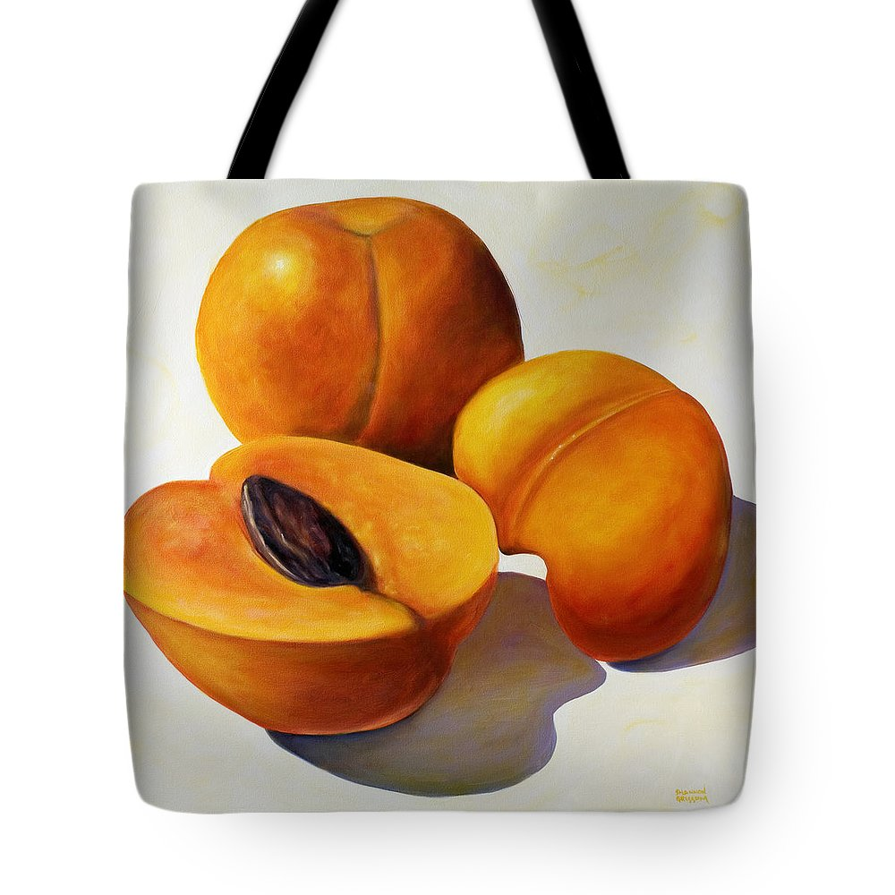 Apricots Tote Bag featuring the painting Apricots by Shannon Grissom