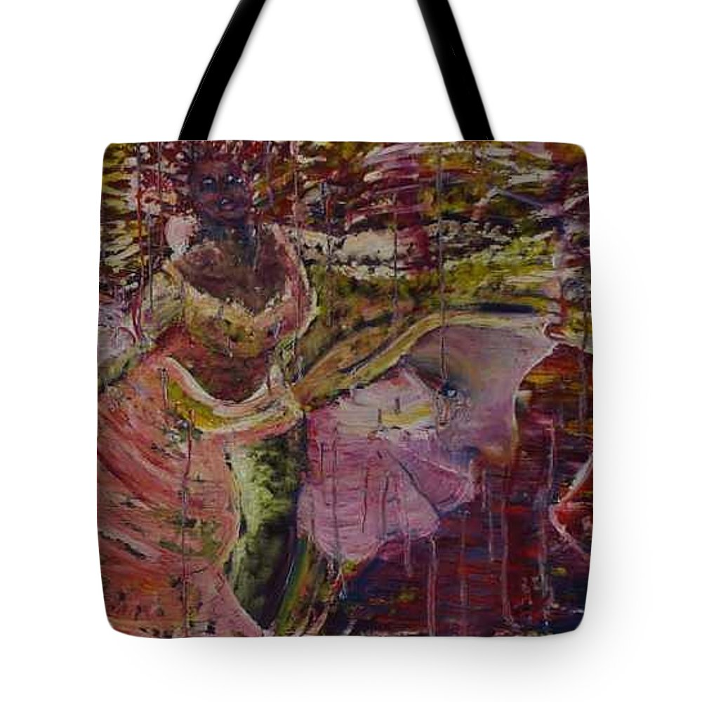 Portrait Tote Bag featuring the painting April 29th. by Peggy Blood