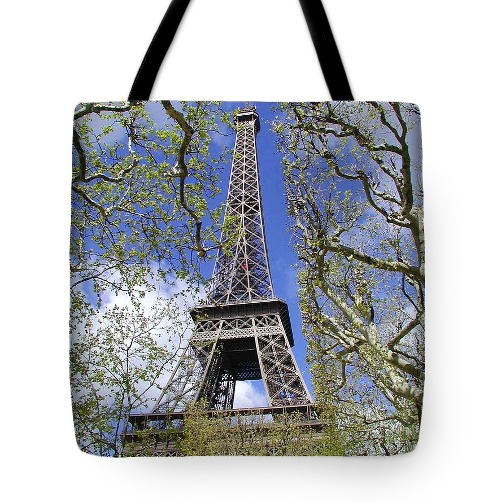 Paris Tote Bag featuring the photograph April In Paris by Tom Reynen