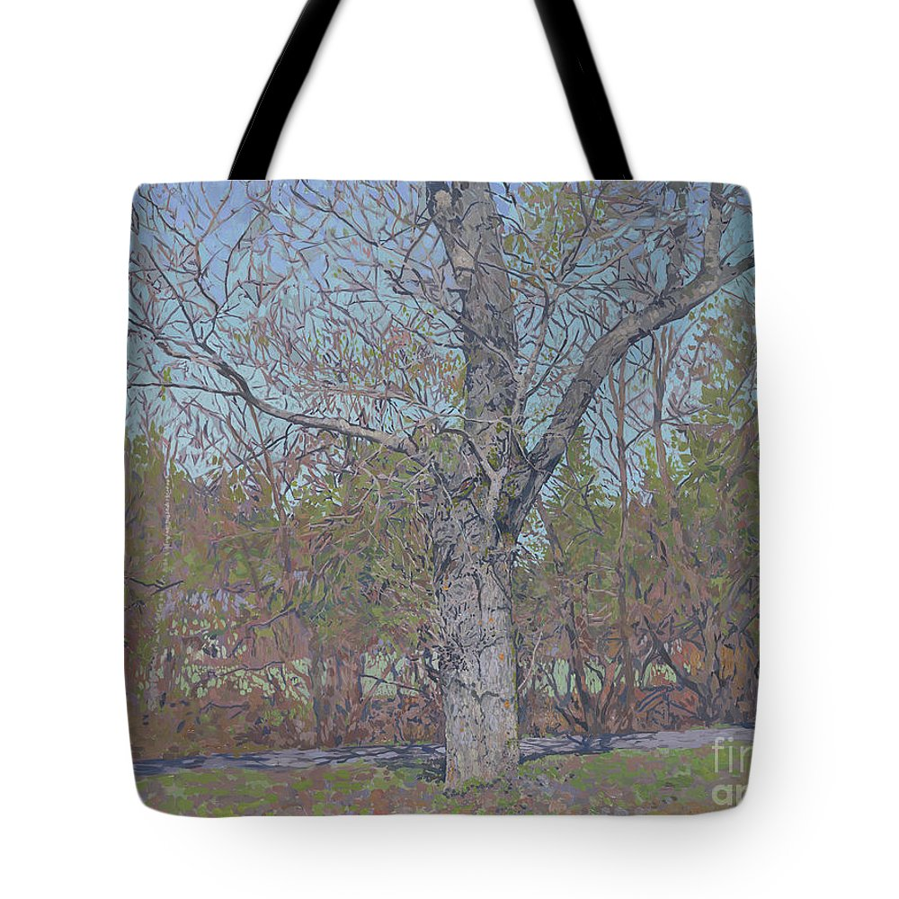 April Tote Bag featuring the painting April by Simon Kozhin