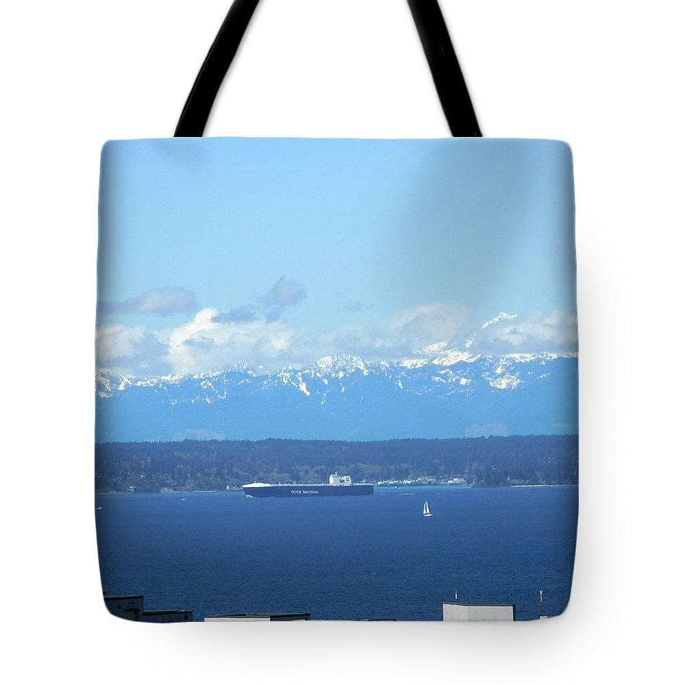 Scene Tote Bag featuring the photograph April Sail by Maro Kentros
