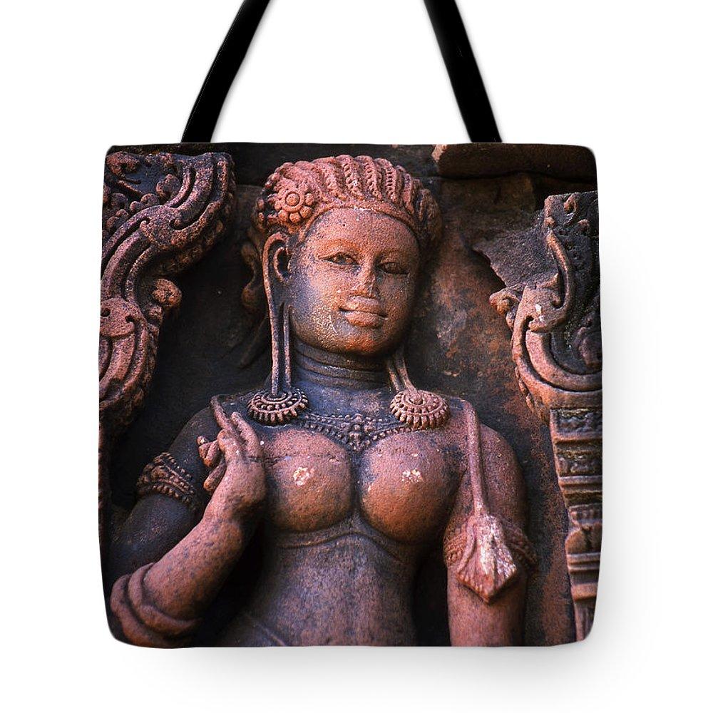 Apsara Tote Bag featuring the photograph Apsara by Patrick Klauss