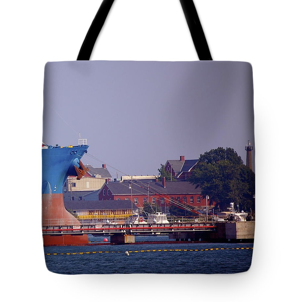 Aqua Tote Bag featuring the photograph Aqua In Dock by Faith Harron Boudreau