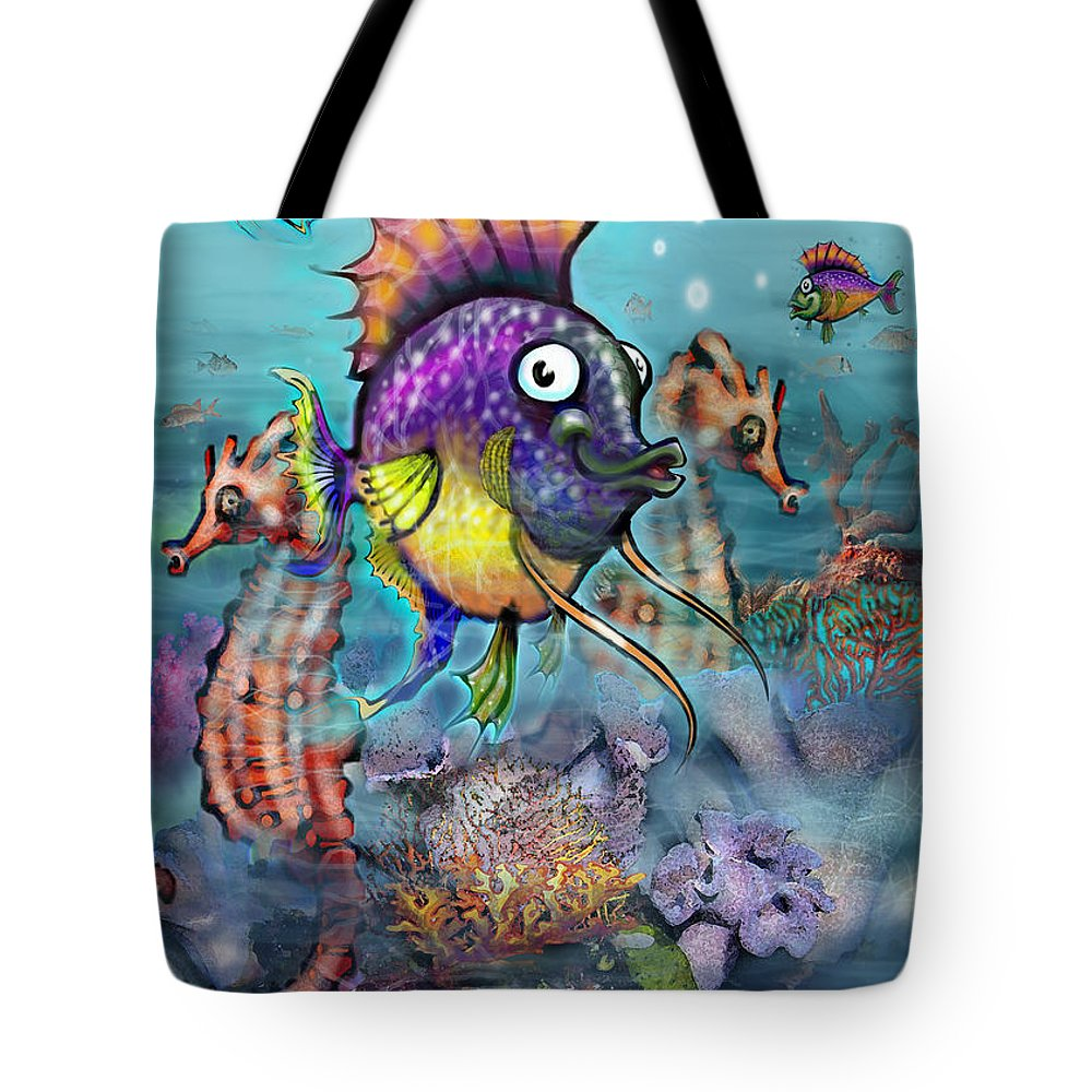 Aquarium Tote Bag featuring the painting Aquarium by Kevin Middleton
