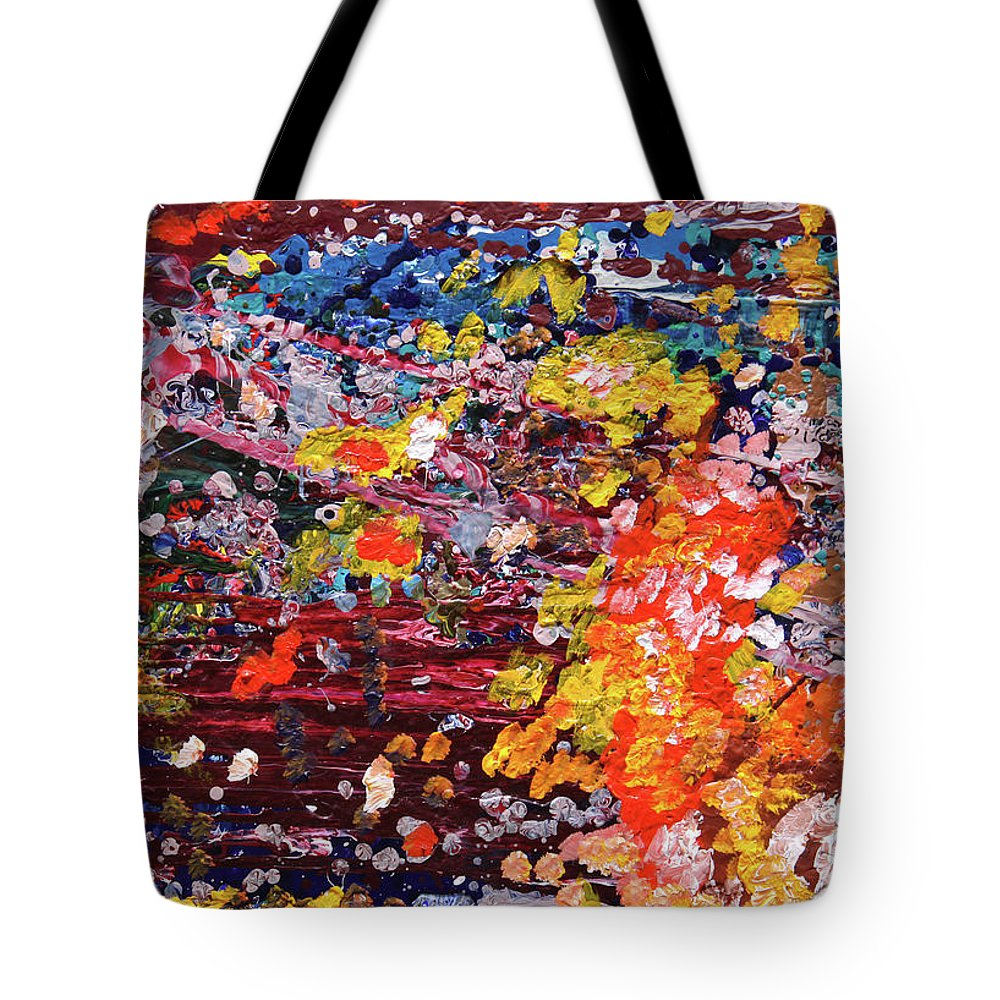 Fusionart Tote Bag featuring the painting Aquarium by Ralph White