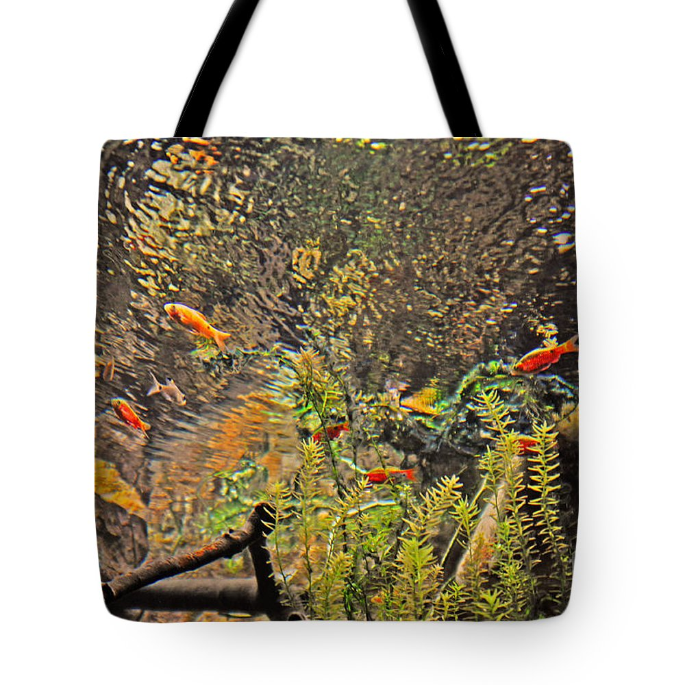 Aquarium Tote Bag featuring the photograph Aquarium Reflections by Lydia Holly