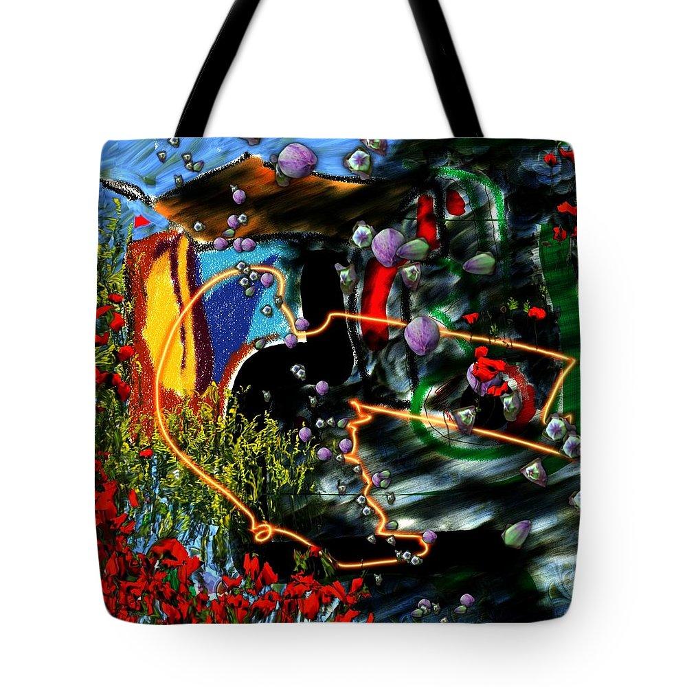 Ocean Water Deep Sea Nature Salad Tote Bag featuring the digital art Aquatic Salad by Veronica Jackson