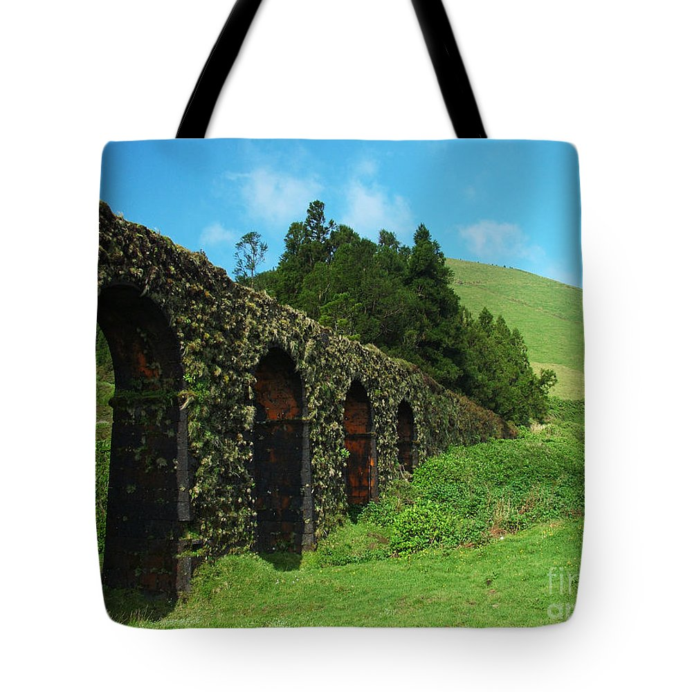 Ancient Tote Bag featuring the photograph Aqueduct by Gaspar Avila