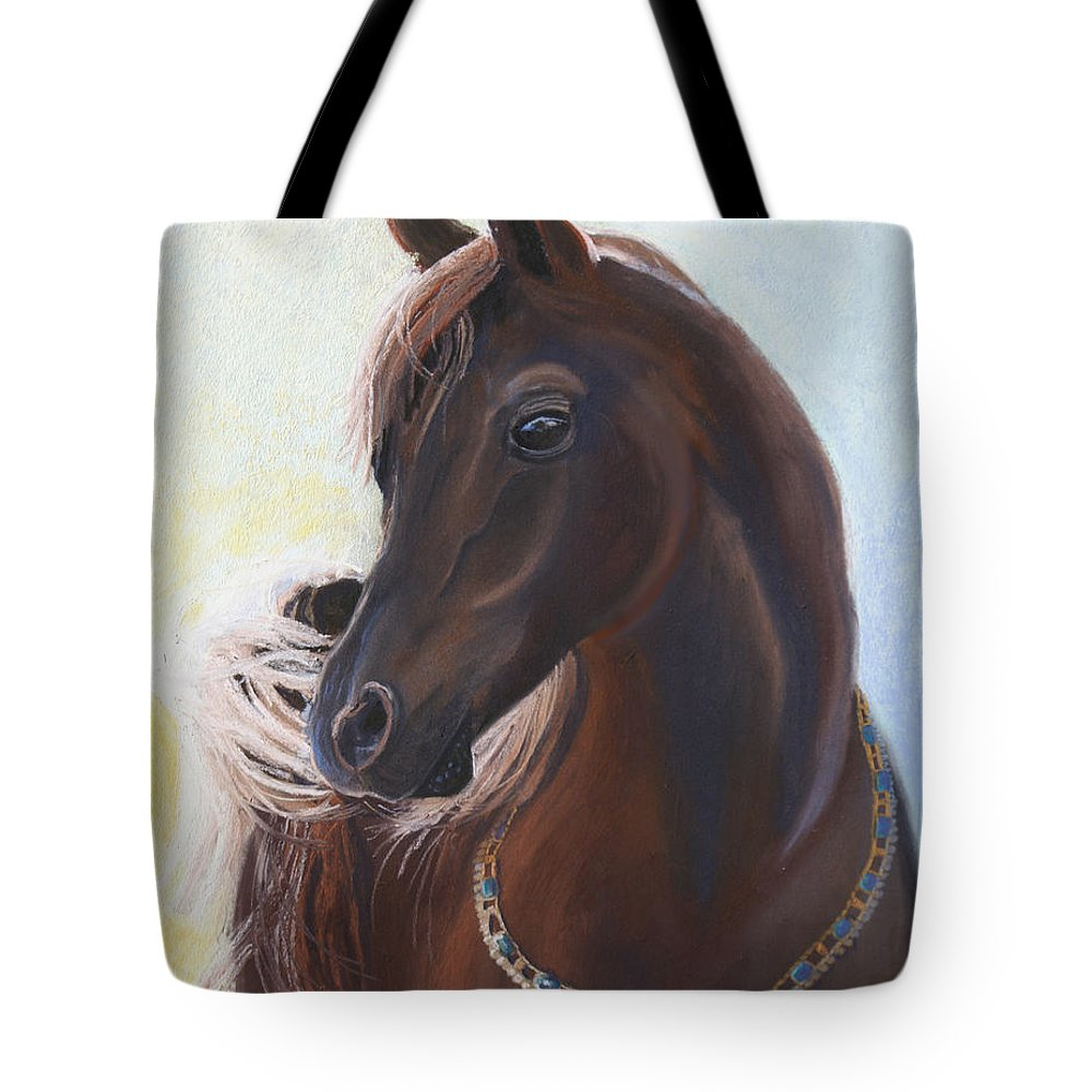 Horse Tote Bag featuring the painting Arabian Prince by Heather Coen
