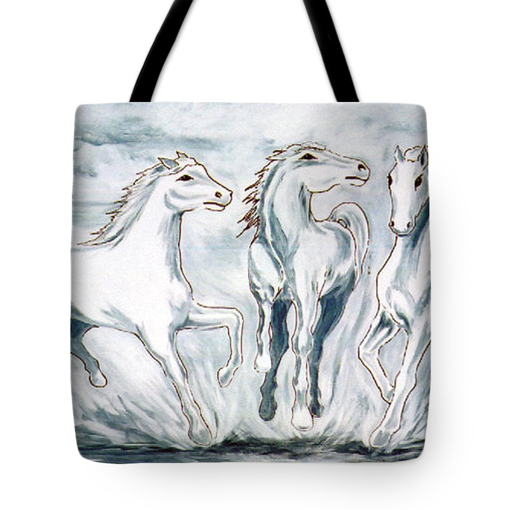 Horses Tote Bag featuring the painting Arabian Roots by Marco Morales