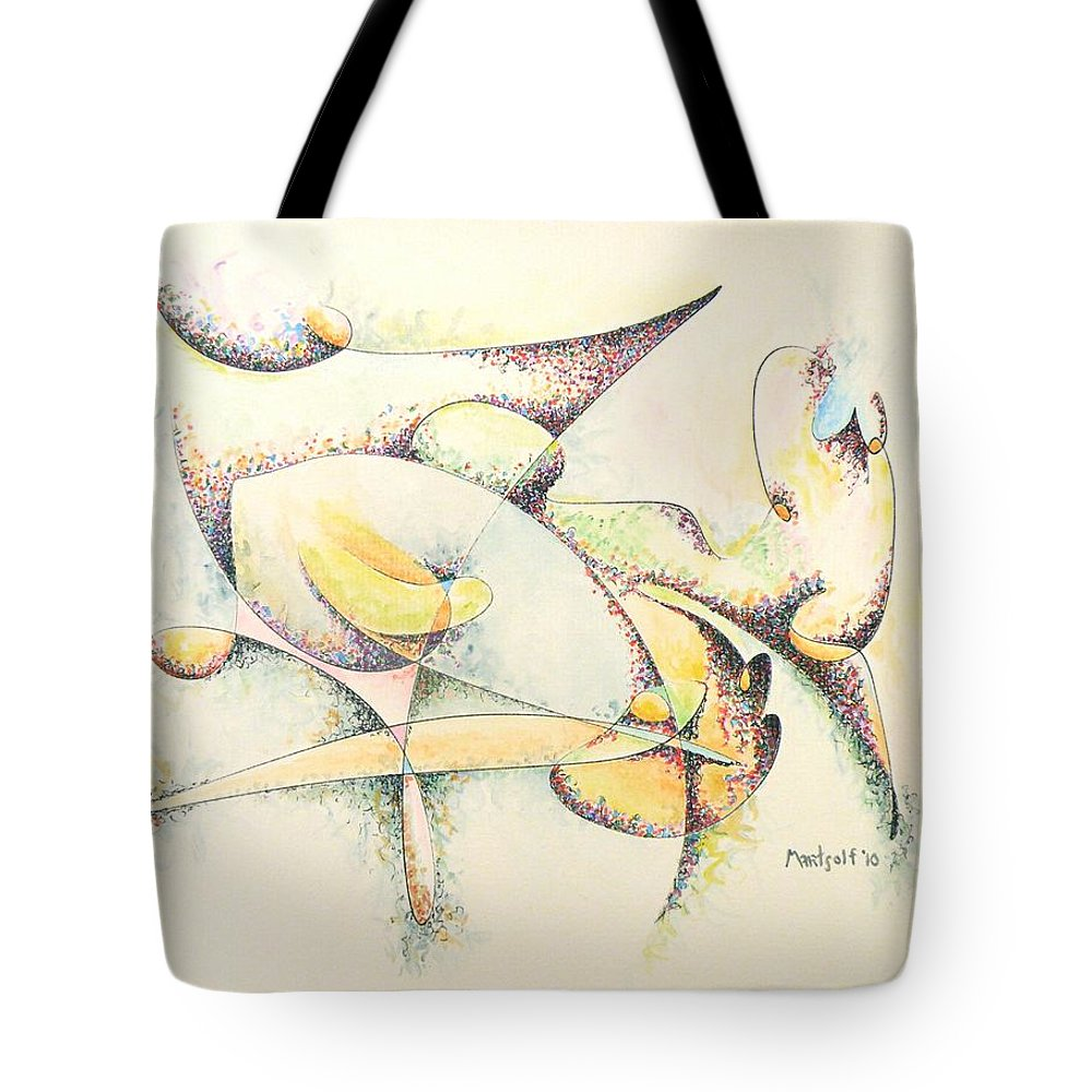Arachne Arachnids Tote Bag featuring the painting Arachne by Dave Martsolf