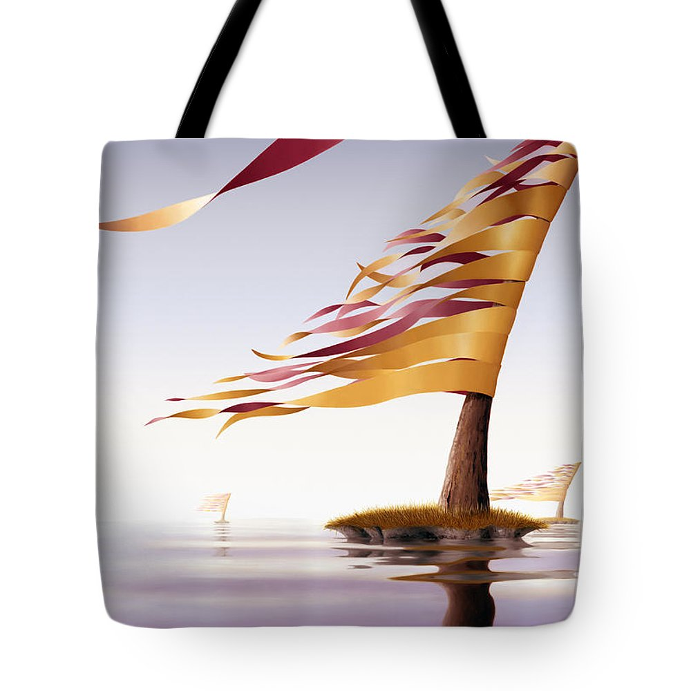 Tree Tote Bag featuring the painting Araucaria Velum by Patricia Van Lubeck