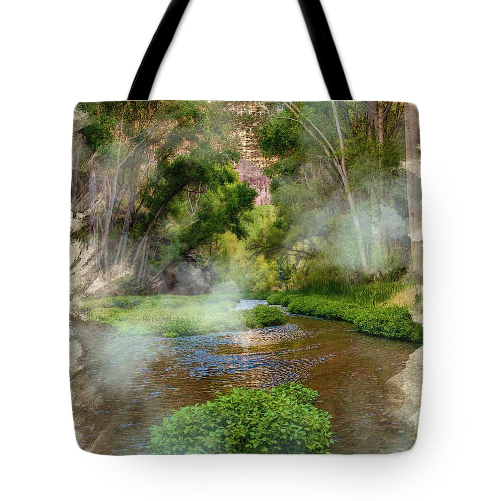 Decoration Tote Bag featuring the digital art Aravaipa Creek by Don Kuing