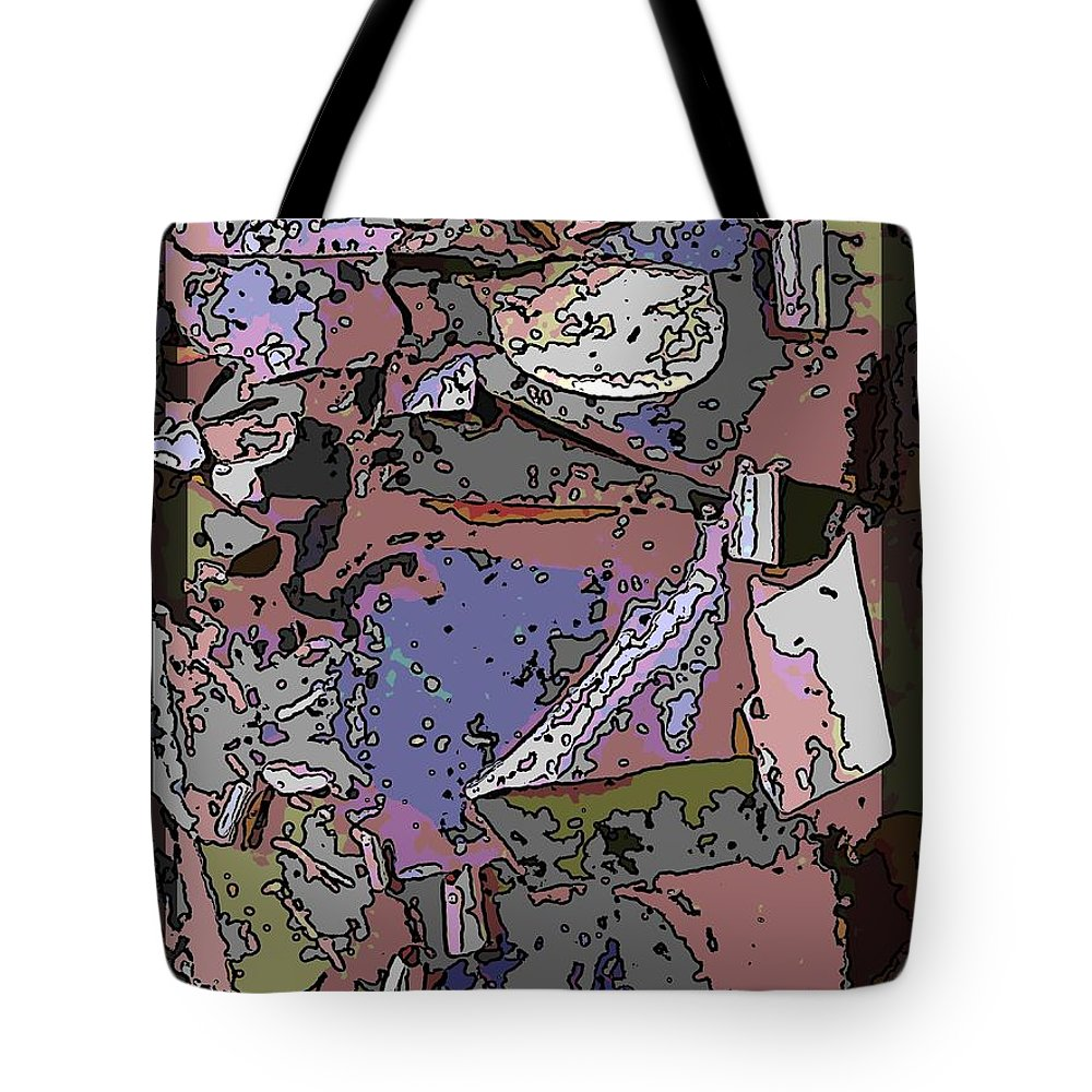Abstract Tote Bag featuring the digital art Arbor Abstract 3 by Tim Allen
