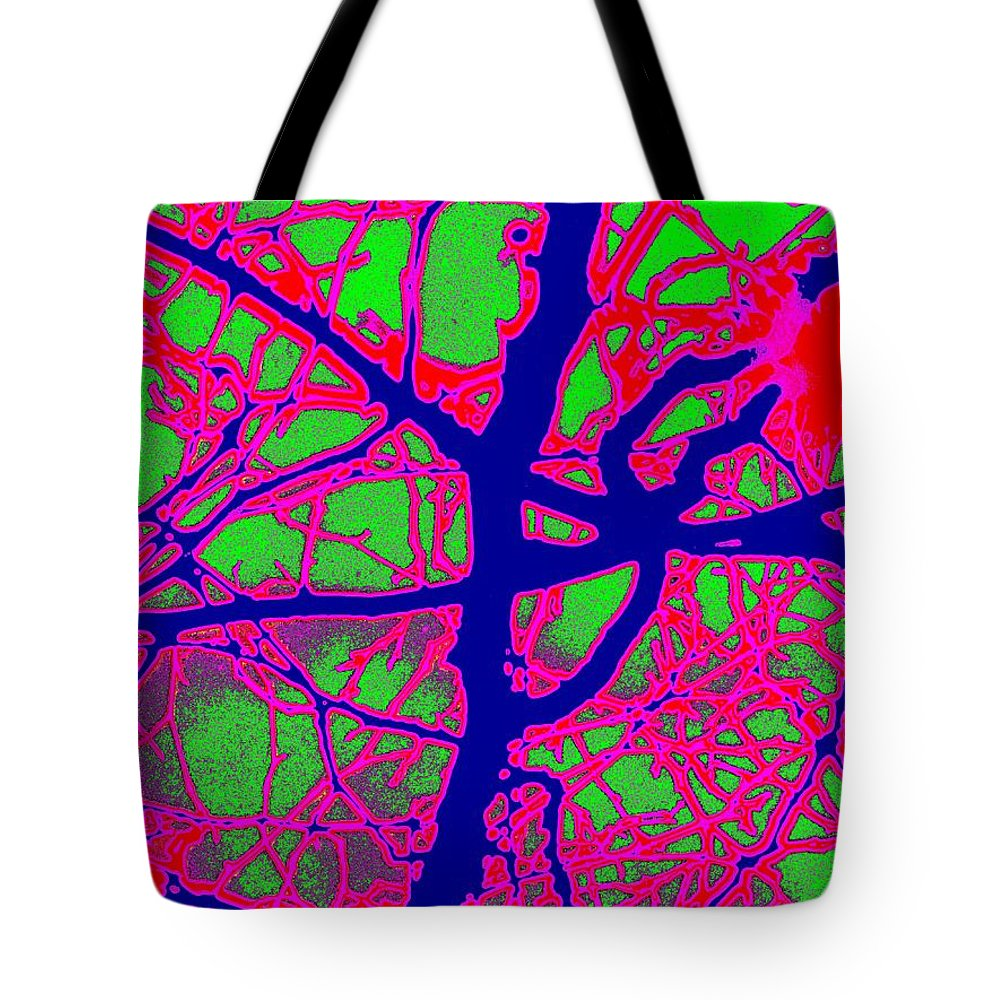 Abstract Tote Bag featuring the digital art Arbor Mist 2 by Tim Allen