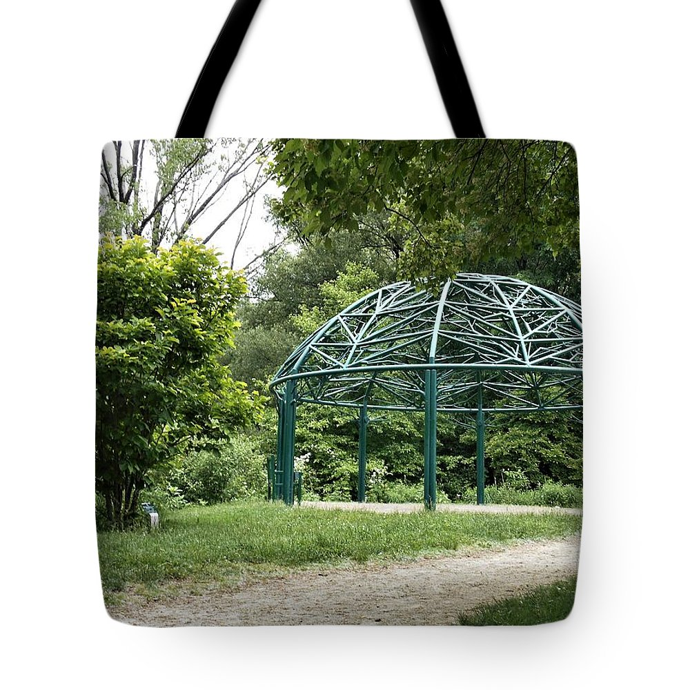 Green Tote Bag featuring the photograph Arch by Michael Dorr-benham