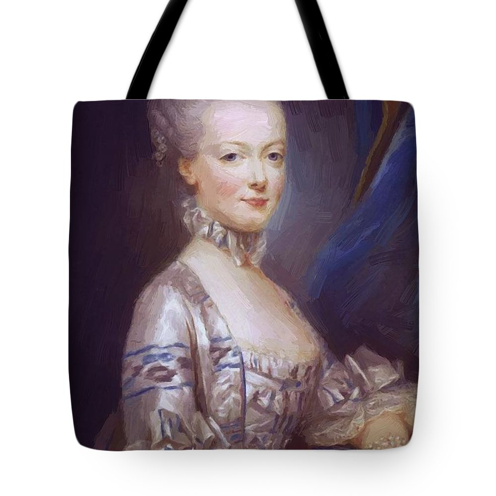 Archduchess Tote Bag featuring the painting Archduchess Maria Antonia Of Austria 1769 by Ducreux Joseph