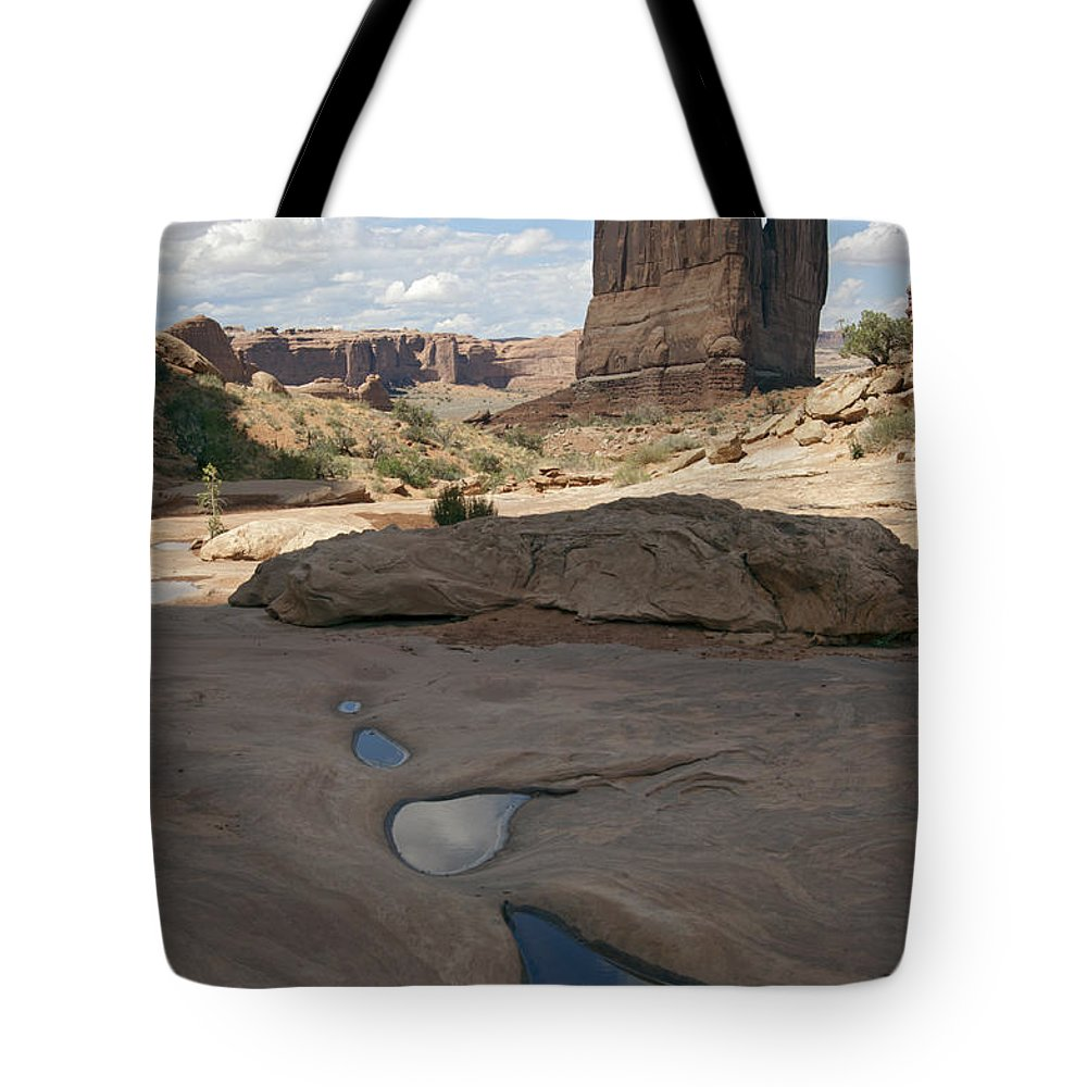 Arches Tote Bag featuring the photograph Arches National Park Park Avenue by Gary Langley